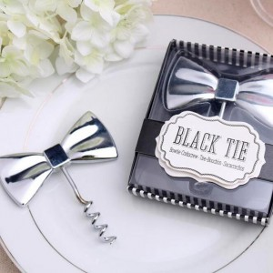 Black Tie bottle opener wedding favors