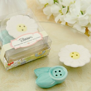 Blossom Ceramic Salt Pepper Shakers Favor