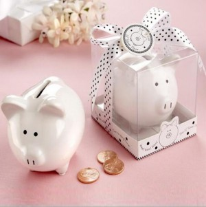 Ceramic Mini-Piggy Bank Wedding Favors