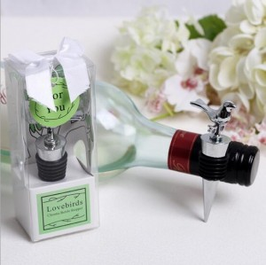 Creative love birds wine stopper wedding favor supplies