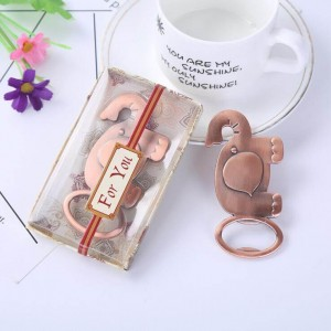 Cute Elephant Bottle Opener Wedding Favor