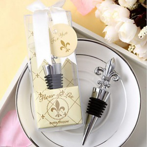 Fleur De Lis Bottle Stopper Cheap Bridal Shower Favors