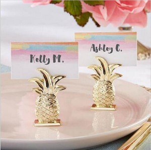 Gold Resin Pineapple Place Card Holder Favor