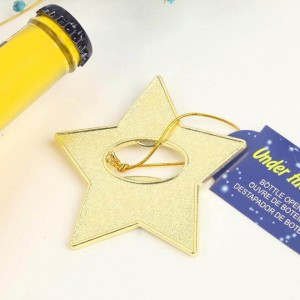 "Gold Star Bottle Opener ""Under The Star' Wedding Favor"