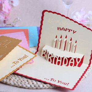 3D pop-up design handmade HAPPY BIRTHDAY greeting card