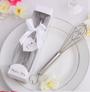 Stainless Steel Heart Shaped Kitchen Whisk Egg Beater Wedding Favor