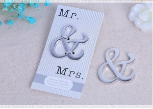 Mr & Mrs Ampersand Bottle Opener Favor