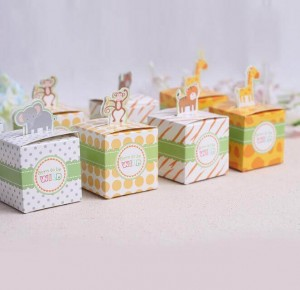 Safari Baby Shower Animal Jungle Favor Box - Born to Be Wild