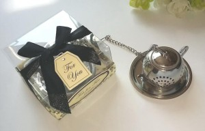 Stainless Steel Round Teapot Tea Infuser Wedding Favor
