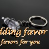Crystal baby bottles keychain wedding party favor