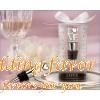 """Love"" Chrome Bottle Stopper Unique Favor for Wedding"