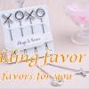 XO design stainless steel hugs and kisses fruit fork wedding favors