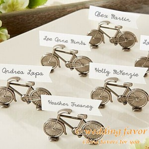 Le Tour Bicycle Place Card Holders Favors