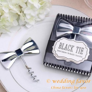 Black Tie bottle opener wedding favors gifts for guests