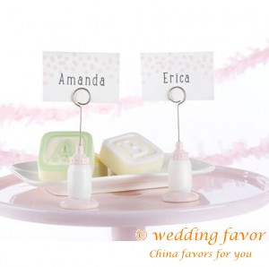 Classic Resin Nursing Bottle Place Card Holder Baby Shower Favors