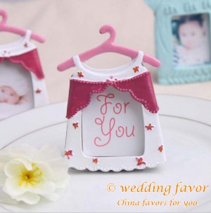 Creative favor cute baby clothes theme frame resin photo frame