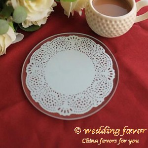 Elegant Lace Round Coaster Wedding Favor(Set of 2)