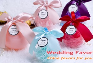 European-style round ball design wedding candy box wedding favors
