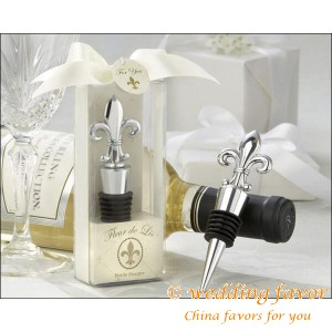 Fleur De Lis Bottle Stopper Favours for Wedding