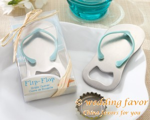 Flip Flop Bottle Opener Wedding Favor from China