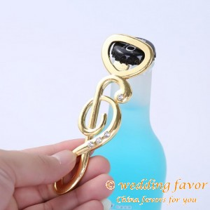 "Music Note Bottle Opener ""The Music of Love"" Favor"