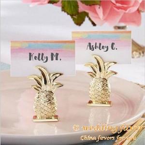 Gold Resin Pineapple Place Card Holder Favor