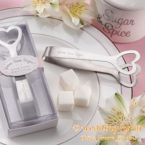 Heart-shaped stainless steel sugar tongs baby candy pick favor