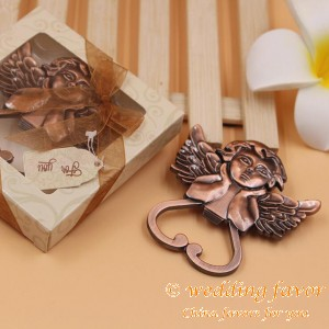 Heart Shaped Cherub Bottle Opener Wedding Favors