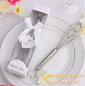 Stainless Steel Heart Shaped Kitchen Whisk Egg Beater Wedding Favor