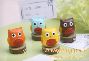 """Whooo's the Cutest"" Owl Place Card Holder Favor"