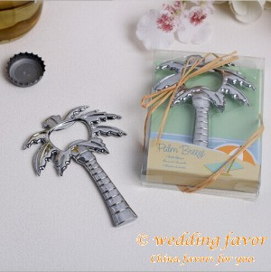Palm Breeze Bottle Opener Wedding Favor