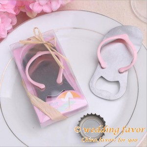 Pink Flip Flop Bottle Opener Wedding Favor