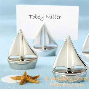Sailboat Design Place Card Holders Favor Wedding