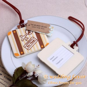 Vintage Suitcase Luggage Tag Wedding Favor