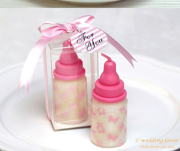 Baby Shower Favors China ~ Baby shower favors bottle candle
