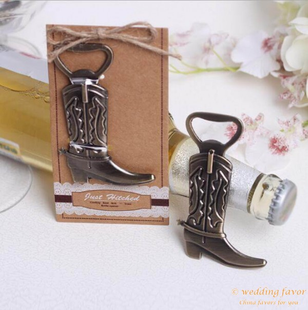home cowboy boots alloy beer bottle opener wedding favor