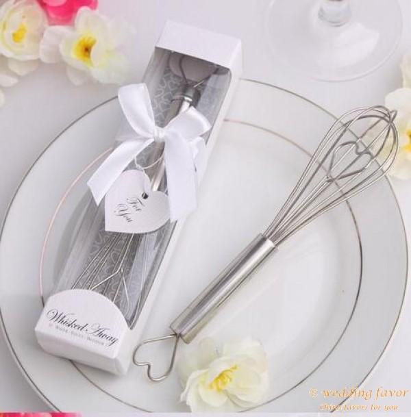Stainless Steel Heart Shaped Kitchen Whisk Egg Beater Wedding