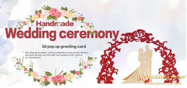 3D Pop-up Cards Wedding Couple Greeting Cards