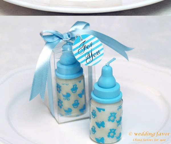 Baby shower favors baby bottle candle favors