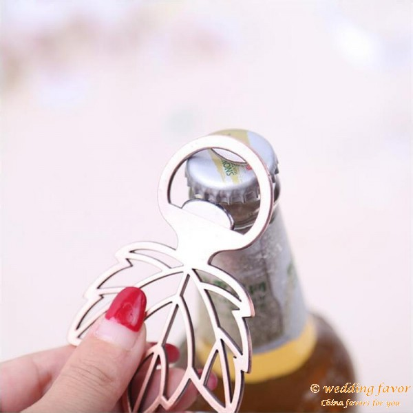 Copper Leaf Bottle Opener Gifts for Wedding