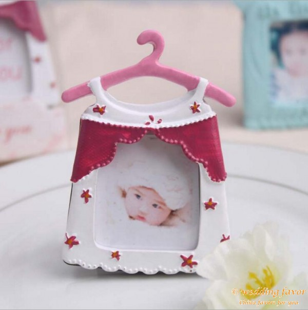 Creative favor cute baby clothes theme frame resin photo frame