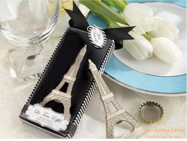 Eiffel Tower Beer Bottle Opener Wedding Favor