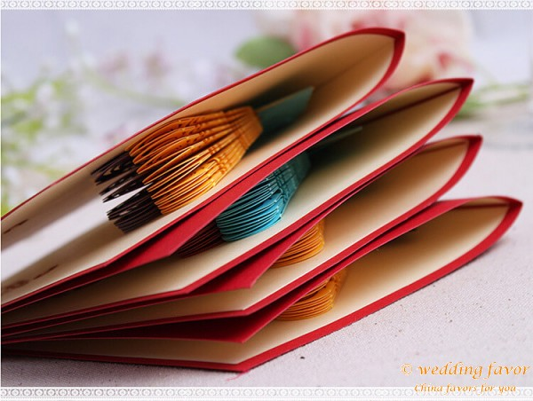 Creative DIY Folding Greeting Card Peacock Invitation Card