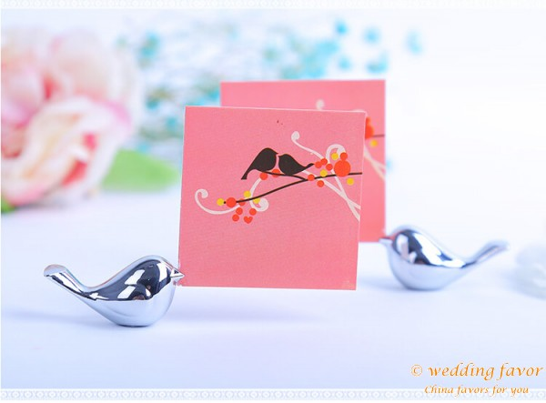 Love Bird Place Card Holder Wedding Favor