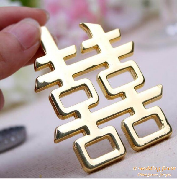 Chinese Style Double Happiness Bottle Opener for Wedding