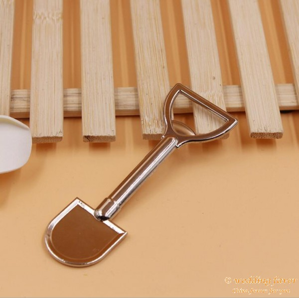 Metal Alloy Shovel Bottle Opener Wedding Favor