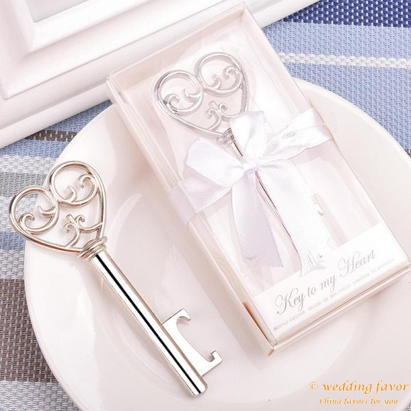 Simply Bottle Opener Elegant Key to My Heart Wedding Favor