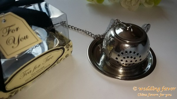 Stainless Steel Round Teapot Tea Infuser Wedding Favor
